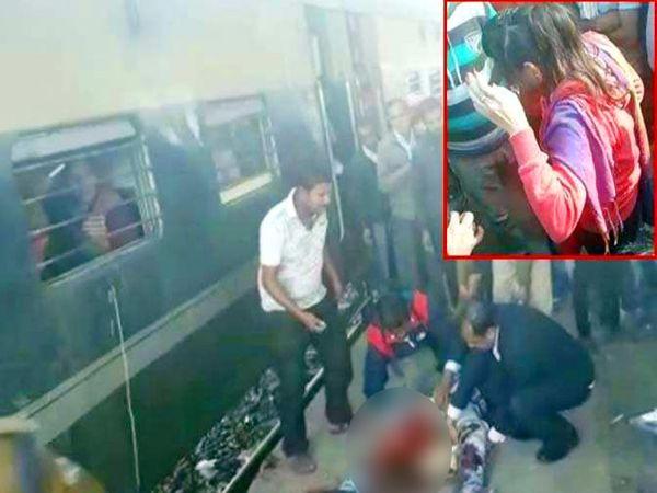 स्टेशनवर रेल्वे निघाल्याने चढताना सुनील जैन यांचा पाय घसरला आणि रेल्वेखाली आल्याने कटला. - Divya Marathi