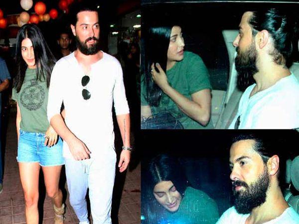 श्रृती हासन आणि तिचा ब्रिटीश बॉयफ्रेंड मायकल. - Divya Marathi