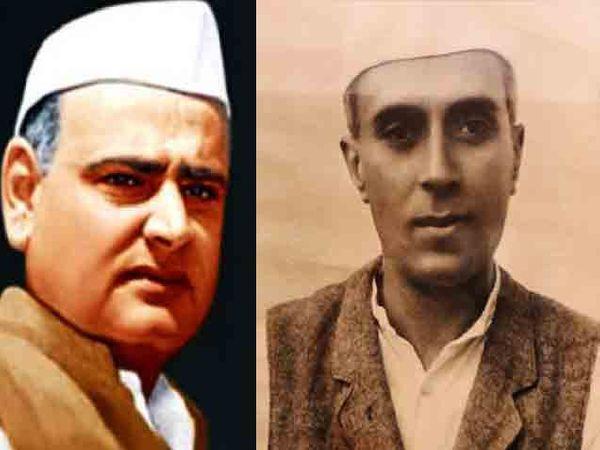 राहुल गांधी यांचे आजोबा फिरोज गांधी आणि त्यांचे पणजोबा पंडित जवाहरलाल नेहरू. - Divya Marathi