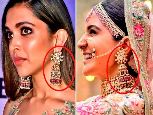 दीपिका पादुकोणने आधी वापरले होते अनुष्का शर्माने घातलेले झुमके. - Divya Marathi