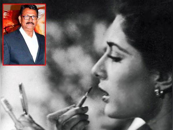 स्मिता पाटील, इनसेटमध्ये मेकअप आर्टिस्ट दीपक सावंत - Divya Marathi