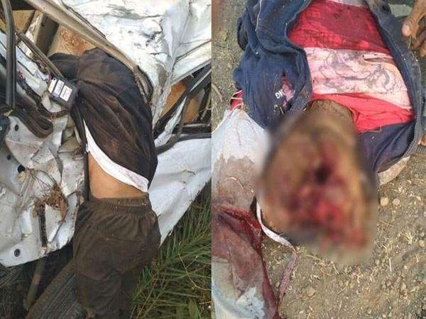 कारच्या दारवाजाला तरुणाचा मृतदेह लटकलेला होता. - Divya Marathi