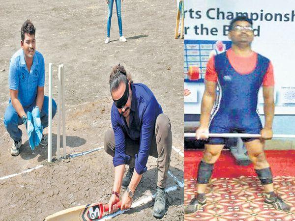 गतवर्षी पाणी फाउंडेशनच्या कार्यक्रमात अभिनेता आमिर (पट्टी बांधून) साेबत खेळला. त्यानेही यष्टिरक्षक फलंदाज रावसाहेबचे काैतुक केले - Divya Marathi