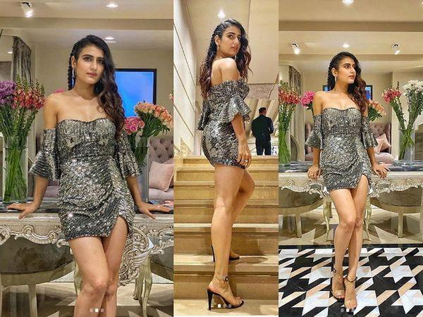 बॉलिवूड डेस्क : 'दंगल गर्ल' च्या नावाने प्रसिद्ध असलेली अभिनेत्री फातिमा सना शेख अशातच आपल्या फॅशन डिजायनर फाल्गुनी अँड शेन पीकॉकच्या स्टोअर लॉन्चमध्ये पोहोचली होती. येथे तिने सिल्व्हर शॉर्ट ड्रेस परिधान केला होता तिचा लूक खूप ग्लॅमरस दिसत होता. - Divya Marathi