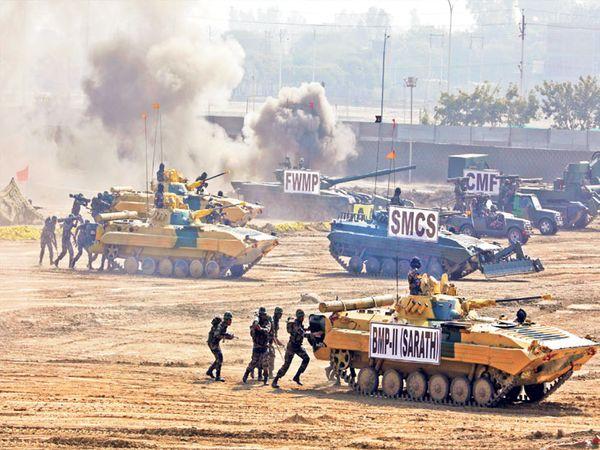 पायदळ : भारतीय सैन्याच्या बॅटल टँक टीमनेही अद्भुत क्षमतेचे घडवले दर्शन - Divya Marathi