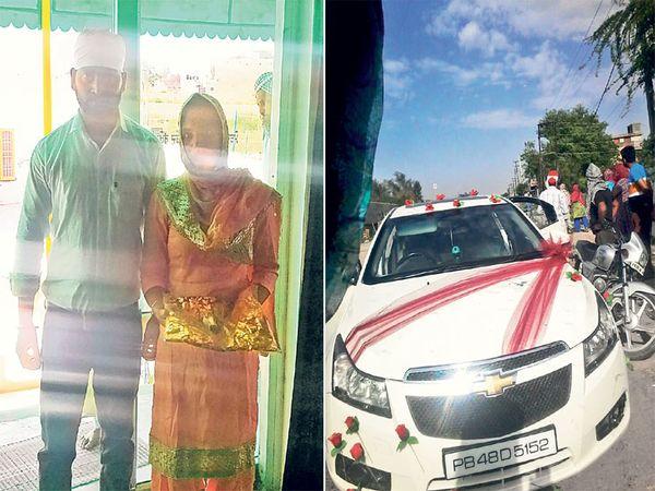 कार खराब झाल्याने वाटेत थांबला होता नवरदेव, घरच्यांना बोलावून केले लग्न - Divya Marathi