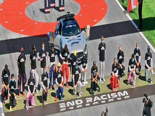 या रेसमध्ये सहभागी झालेल्या रेसरने माेहिमेला पाठबळ दर्शवले. तसेच काेराेनात मृत्युमुखी पडलेल्यांना श्रद्धांजली वाहिली. - Divya Marathi