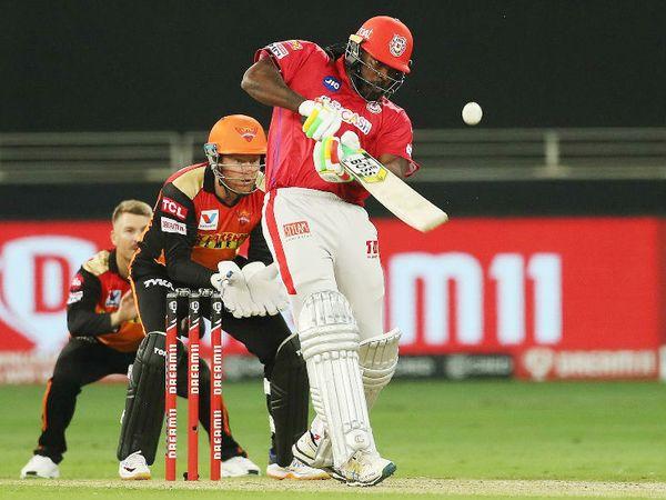 पंजाबकडून ख्रिस गेलने 20 चेंडूंत 20 धावा फटकावल्या.