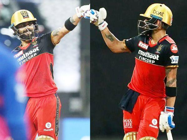 IPL मध्ये 40वे अर्धशतक आणि 6000 धावा पूर्ण केल्यानंतर विराट कोहली आनंदी दिसत होता.
