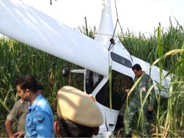 એરફોર્સ ડેની તૈયારી કરતું વાયુસેનાનું વિમાન UPના બાગપતમાં ક્રેશ - Divya Bhaskar