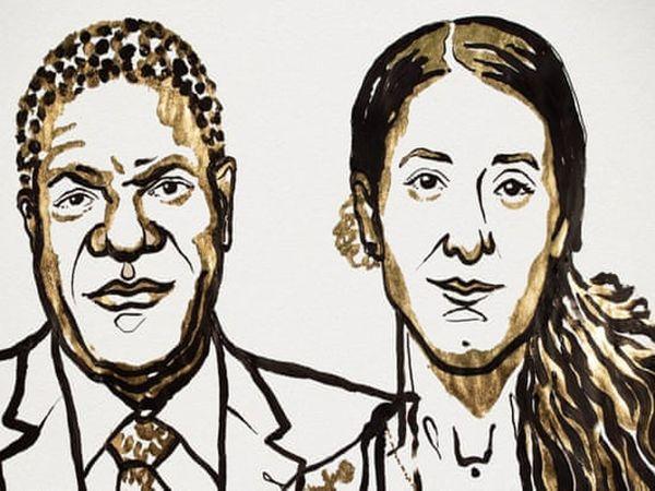 ડેનિસ મુકવેગે અને નાદિયા મુરાદ - Divya Bhaskar