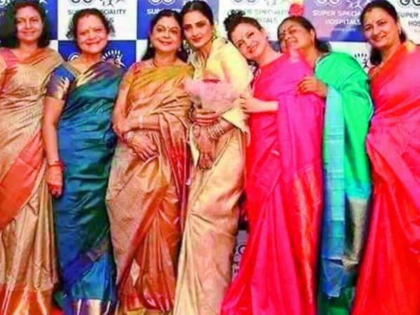 ડાબેથી, ડો. જયા શ્રીધર, રેવતી સ્વામીનાથન, ડો. કમલા સેલવરાજ, રેખા, રાધા ઉસ્માન સૈયદ, નારાયણી ગણેશ, વિજયા ચામુંડેશ્વરી - Divya Bhaskar