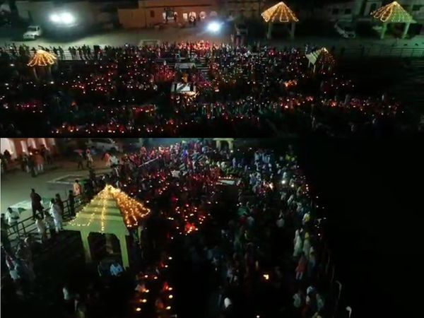 મહાઆરતીનો ડ્રોન નજારો - Divya Bhaskar