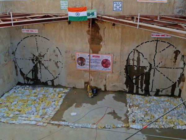 કાલુપુર-એપરલ પાર્ક ટનલનું ખોદકામ - Divya Bhaskar