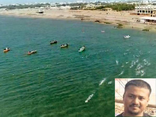 તરણવીરોએ સમુદ્ર સાથે બાથ ભીડી અને ઇન્સેટમાં પ્રથમ ક્રમે આવેલો રાજસ્થાનનો દિવ્યાંગ - Divya Bhaskar