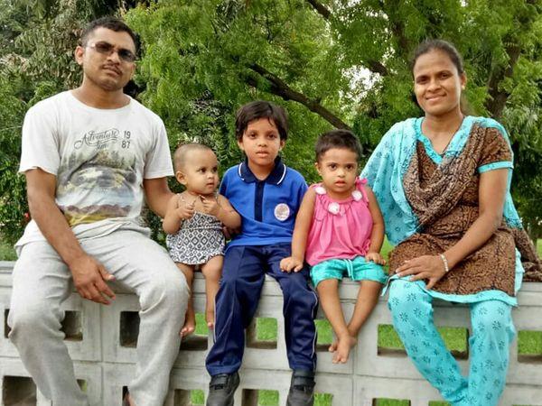 પરિવાર સાથે નર્સ  નયના ડોડીયાર. - Divya Bhaskar
