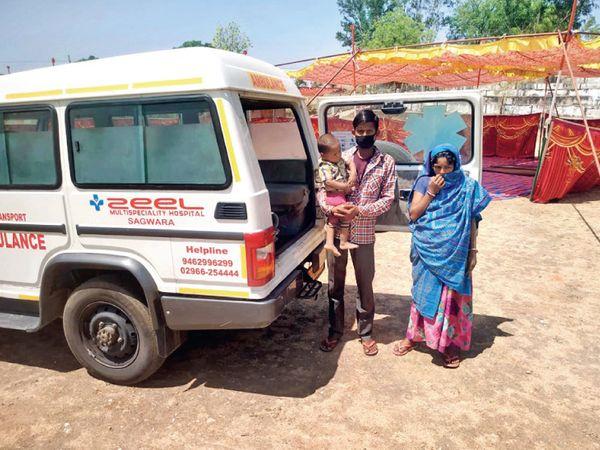 રાજસ્થાન પહોંચતાં મદદ અને એમ્બુલન્સ મળી. - Divya Bhaskar