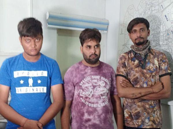 ગેંગરેપ કરનાર ત્રણ આરોપીઓ - Divya Bhaskar