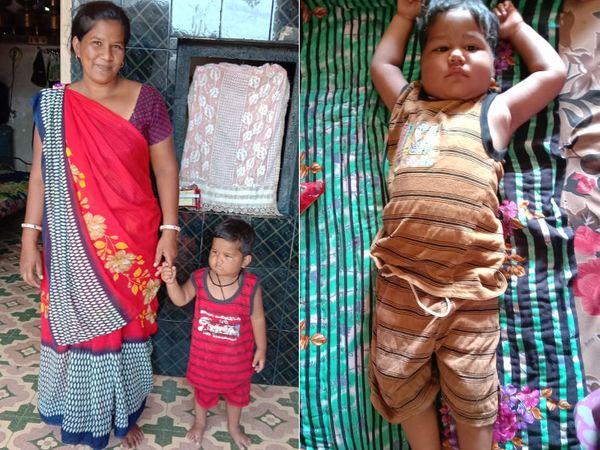 ત્રણ વર્ષનો અર્જુન સ્વસ્થ થઇને ઘરે પરત ફર્યો - Divya Bhaskar