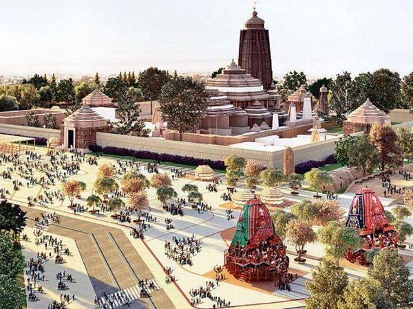 2020માં જ્યારે આ હેરિટેડ કોરિડોર બનીને તૈયાર થઇ જશે તો જગન્નાથ મંદિરનું દૃષ્ય કઇંક આવું હશે