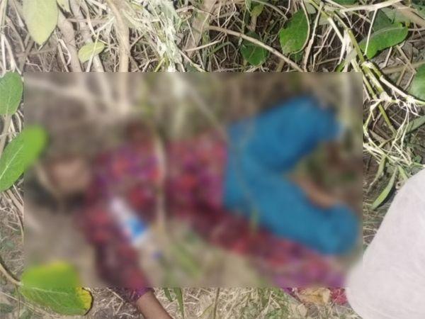 રેલવે-ટ્રેક પાસેની ઝાડીમાંથી એક બિનવારસી ઇજાગ્રસ્ત હાલતમાં મહિલા મળી હતી. - Divya Bhaskar