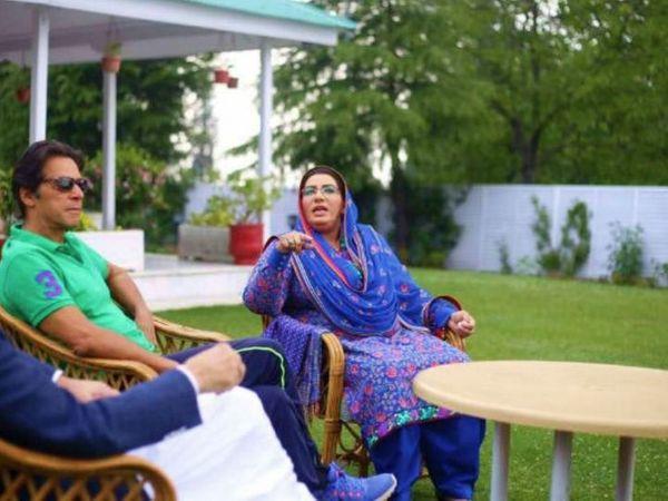 પ્રધાનમંત્રી ઈમરાન ખાન સાથે કેબિનેટ મંત્રી ફિરદૌસ આશિક અવાન. - Divya Bhaskar