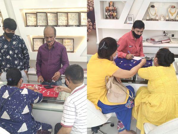 સવારે 9થી 12 વાગ્યા સુધી ખરીદી માટે શ્રેષ્ઠ મુહૂર્ત હોવાથી લોકો સવારથી જ ખરીદી માટે આવ્યા - Divya Bhaskar