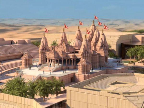 જાહેર કરવામાં આવેલી સ્વામિનારાયણ મંદિરની ડિઝાઇન. - Divya Bhaskar