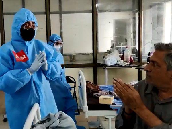 નોડલ ઓફિસર ડો, શિતલ મિસ્ત્રીએ દર્દીઓનો જુસ્સો વધાર્યો