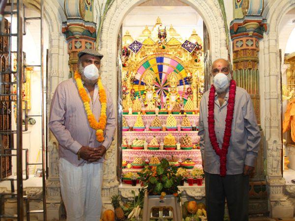 ગોંડલ સ્વામિનારાયણ મંદિરે અન્નકૂટ દર્શન યોજાયા, રાજવી પરિવારે હાજરી આપી - Divya Bhaskar