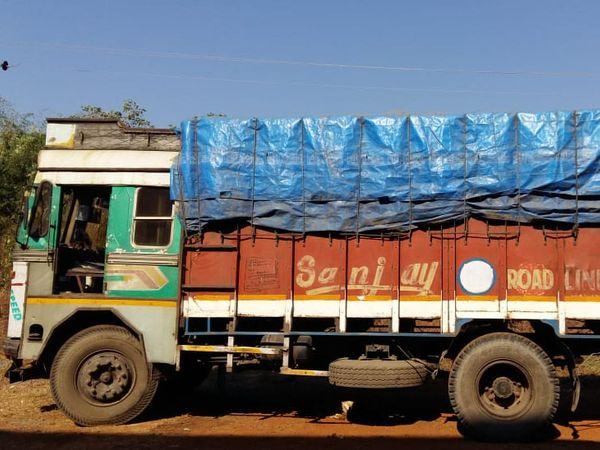પુરવઠા વિભેગે જોગવેલની રાઇસ મ્લમાંથી કબજે કરેલું ગેરકાયદે સરકારી અનાજ અને મહારાષ્ટ્ર પાર્સિગની ટ્રક - Divya Bhaskar