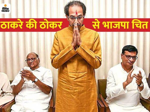 મુખ્યમંત્રી બન્યા બાદ CM ઉદ્ધવ ઠાકરેના નૈતૃત્વમાં આ પ્રથમ ચૂંટણી હતી-ફાઈલ ફોટો - Divya Bhaskar