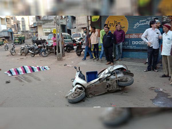 ડભોઈના યુવકનું ટ્રકની અડફેટે ઘટના સ્થળે મોત નિપજ્યું. - Divya Bhaskar