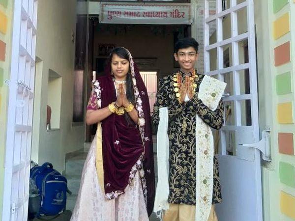 પાટણના ત્રિસ્તુતિક જૈન ઉપાશ્રયમાં દિક્ષાર્થી ભાઈ બહેનનુ આગમન - Divya Bhaskar