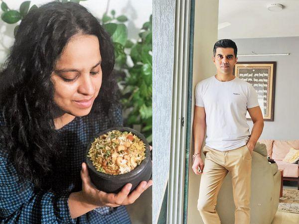 તસવીર: ફૂડ બ્લોગર અભિનિષા ઝુબીન આશરા અને ફૂડ કન્સલ્ટન્ટ સુરીલ ઉદ્દેશી. - Divya Bhaskar