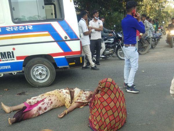 ગમખ્વાર અકસ્માતમાં 3 લોકોના મોત થયા હતા - Divya Bhaskar