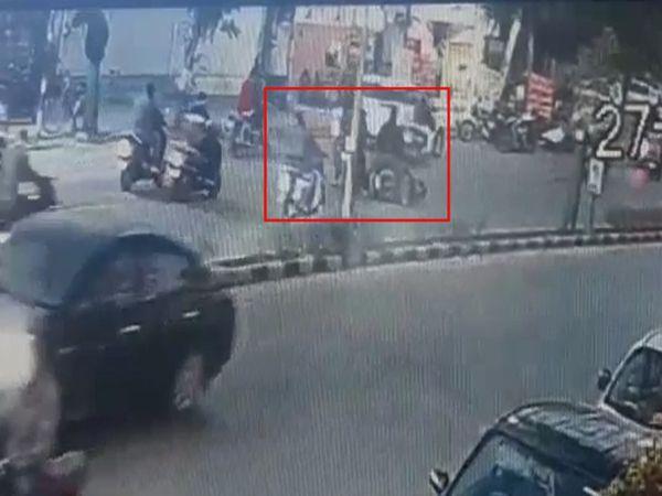 અકસ્માતની ઘટના CCTVમાં કેદ - Divya Bhaskar
