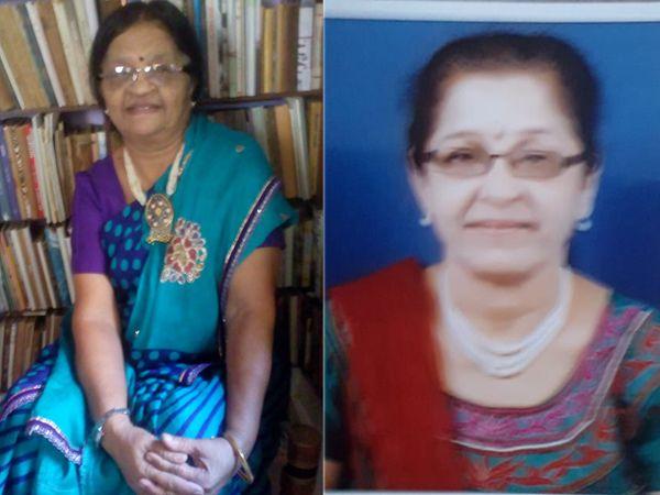 નૂતનબેન, સાધનાબેન (ડાબે થી) - Divya Bhaskar