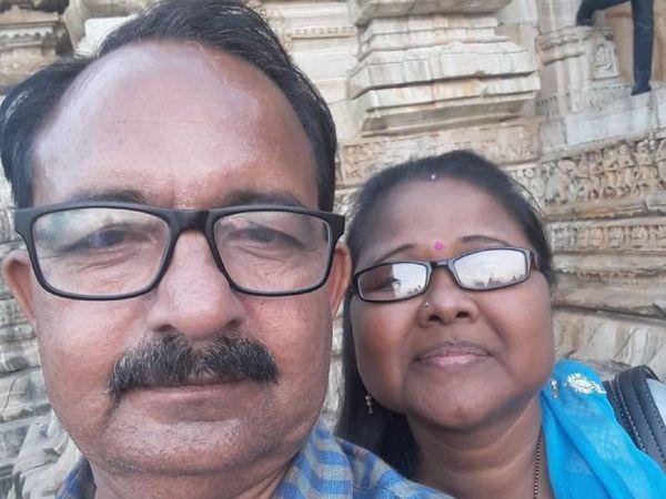 ભુપેન્દ્રસિંહ રાવ તેમના  પત્ની અગ્નેશ રાવ સાથે - Divya Bhaskar