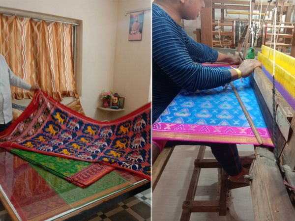 મૂળીનાં સોમાસર ગામે આજે પણ 60 જેટલા પરિવારો હાથ વણાટનાં પટોળા બનાવી ગુજરાન ચલાવવાની સાથે કલાના વારસાને લોકો જાળવી રહ્યા છે. - Divya Bhaskar