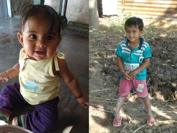 6 માસની પુત્રી શ્રદ્ધા અને 4 વર્ષની પુત્રી ઉર્વશીની ફાઇલ તસવીર. - Divya Bhaskar