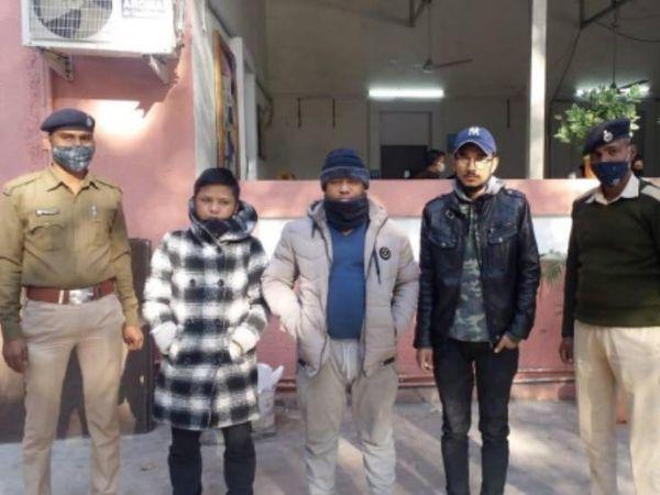 પોલીસે ઝડપી લીધેલા આરોપીઓ - Divya Bhaskar