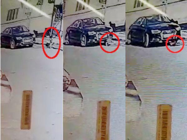 રાજકોટમાં ઓડી કારે દોઢ વર્ષના બાળકને કચડી નાખતાં મોત, ઘટના CCTV કેમેરામાં કેદ થઈ ગઈ. - Divya Bhaskar