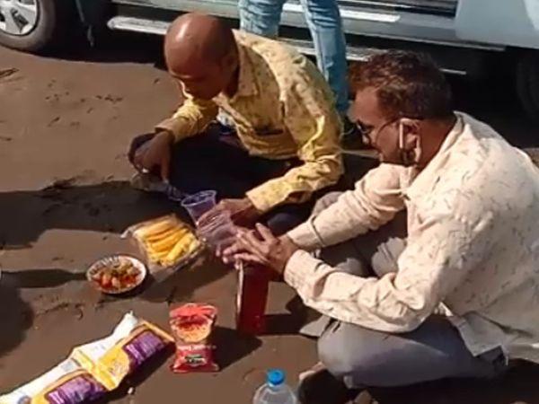 દરિયાકિનારે કરેલી દારૂ પાર્ટીનો વીડિયો વાઈરલ. - Divya Bhaskar