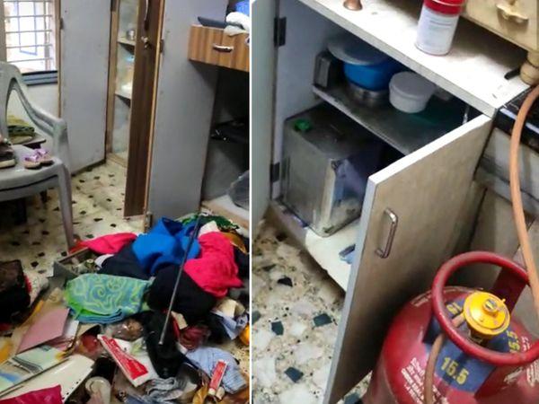 કરચેલીયા બંધ ઘરમાં તસ્કરોએ વેર વિખેર કરેલ સામાન - Divya Bhaskar