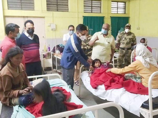 ઊલટી અને બેચેનીની ફરિયાદ પછી દરેક બાળકને યવતમાલ જિલ્લા હોસ્પિટલમાં એડમિટ  કરવામાં આવ્યા, તેમની હાલત હાલ સ્થિર છે. - Divya Bhaskar