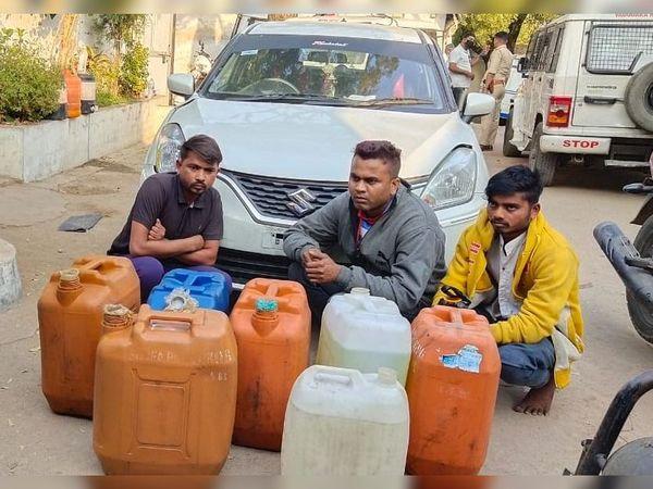 પોલીસ પર હુમલો કરનાર ત્રણ શખ્સને ઝડપી લેવાયા હતા. - Divya Bhaskar