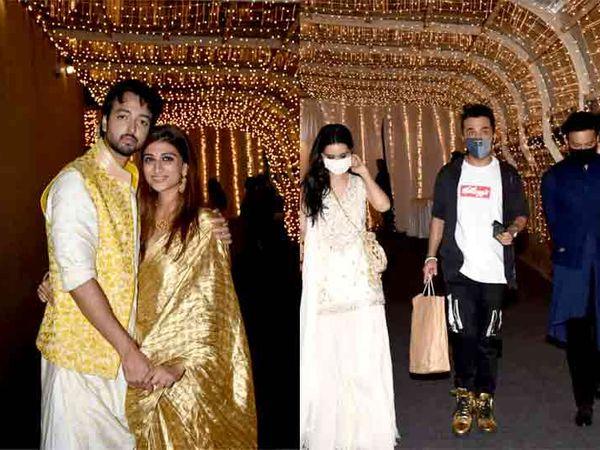 લગ્ન બાદ પ્રિયાંક-શાઝા, શ્રદ્ધા કપૂર ભાઈ સિદ્ધાંત તથા પ્રેમી રોહન સાથે - Divya Bhaskar