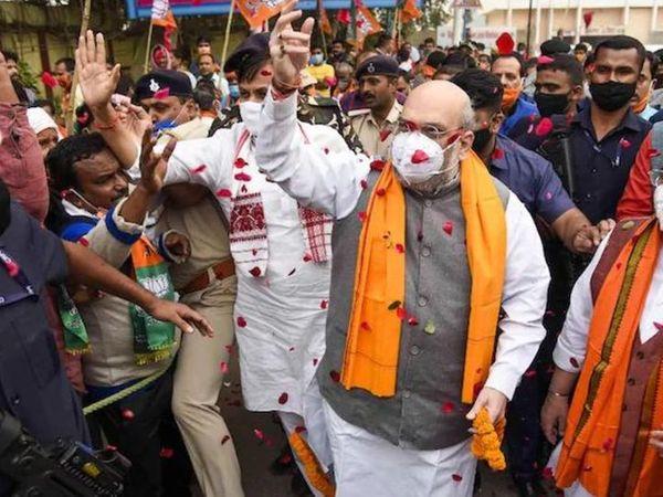 અમિત શાહ 11 ફેબ્રુઆરીએ પશ્વિમ બંગાળમાં કૂચ બિહારમાં પાર્ટીની રથયાત્રામાં ભાગ લેશે. ભાજપ 6 ફેબ્રુઆરીથી રાજ્યમાં પાંચ રથયાત્રા કાઢશે(ફાઈલ તસવીર) - Divya Bhaskar