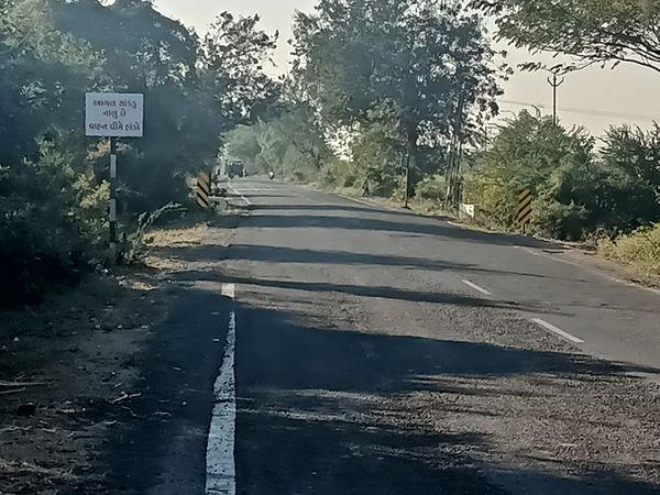 વાલોડ-બારડોલી રોડ પહોળું તો કરવામાં ન આવ્યું પરતું ગરનાળું નજીક પટ્ટા પાડી રસ્તાનું મરામત કરવામાં આવી છે. - Divya Bhaskar